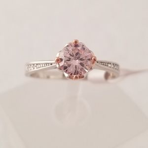 Sterling 1ct Pink Solitaire